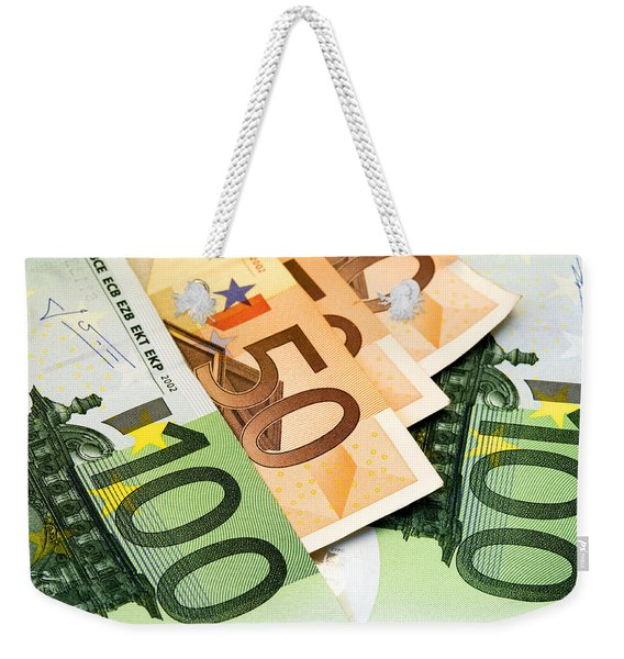 Euro Banknotes Weekender Tote Bag