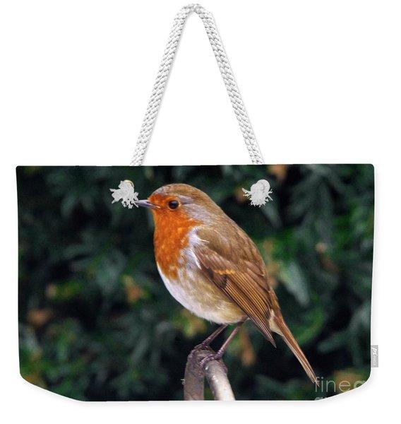 European Robin Erithacus Rubecula Weekender Tote Bag