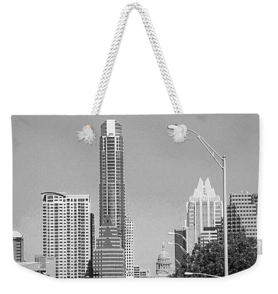 Even In #blackandwhite, The #skyline Of Weekender Tote Bag
