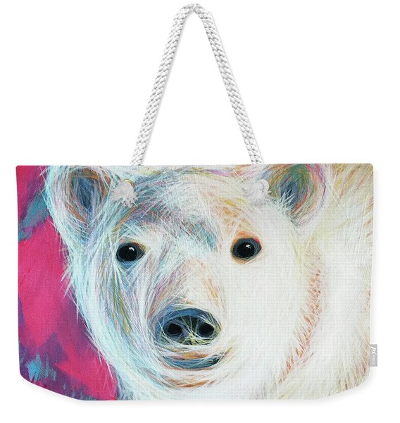Even Polar Bears Love Pink Weekender Tote Bag