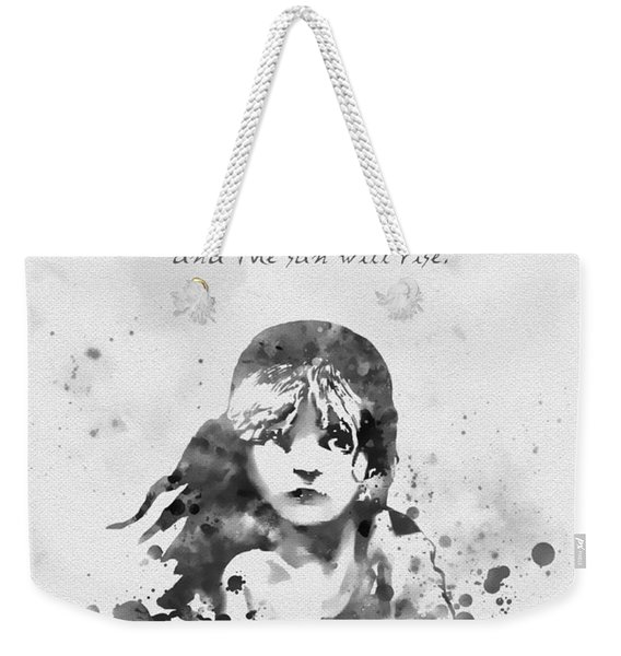 Even The Darkest Night Will End Black And White Weekender Tote Bag