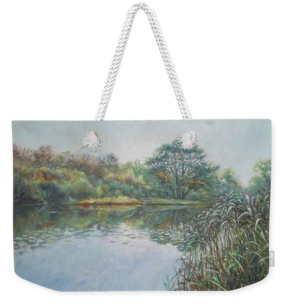 Evening At Southampton Common Lake Weekender Tote Bag