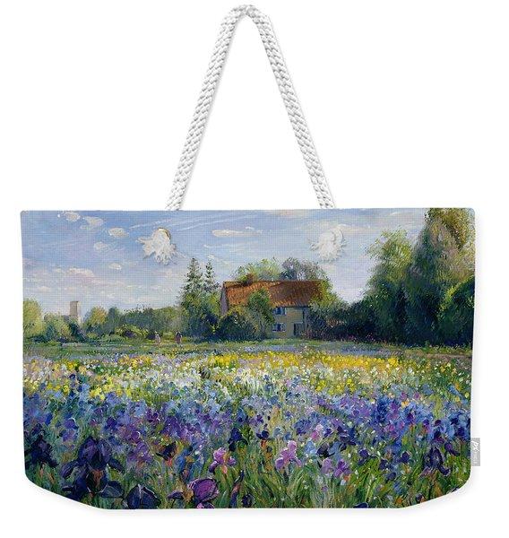 Evening At The Iris Field Weekender Tote Bag