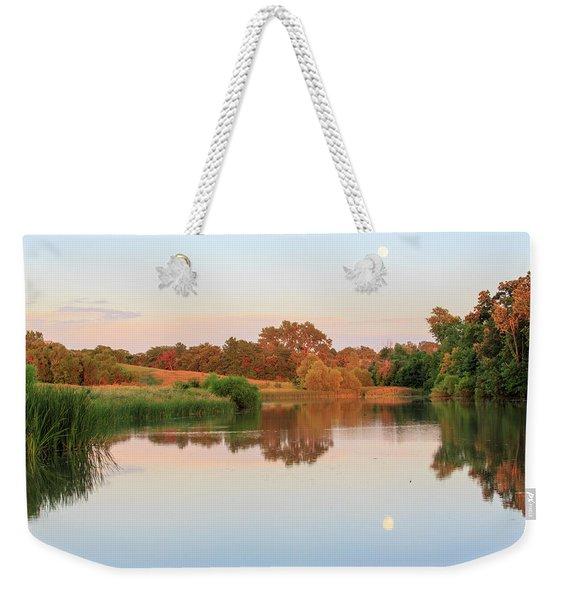 Evening At The Lake Weekender Tote Bag