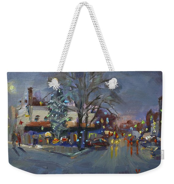 Evening At Webster And Main St Weekender Tote Bag