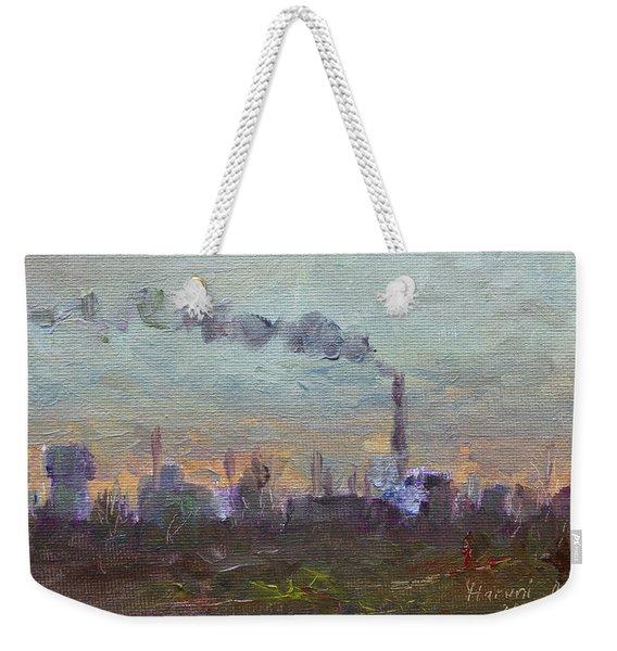 Evening By Industrial Site Weekender Tote Bag