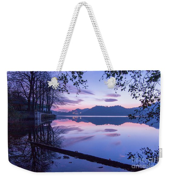 Evening By The Lake Weekender Tote Bag