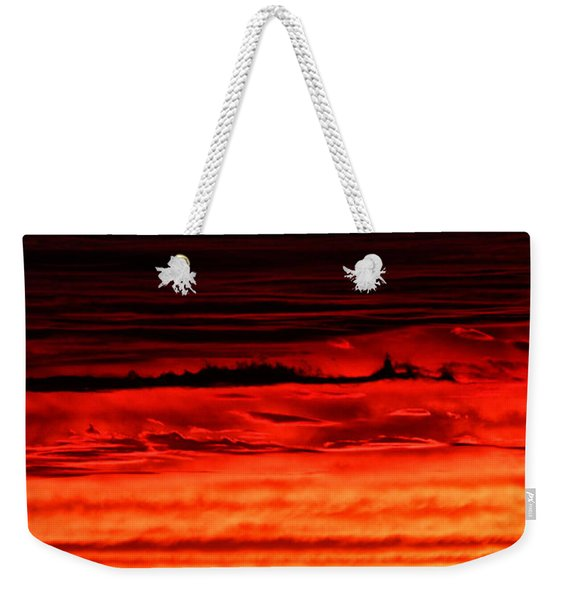 Weekender Tote Bag featuring the photograph Evening Clouds by William Selander
