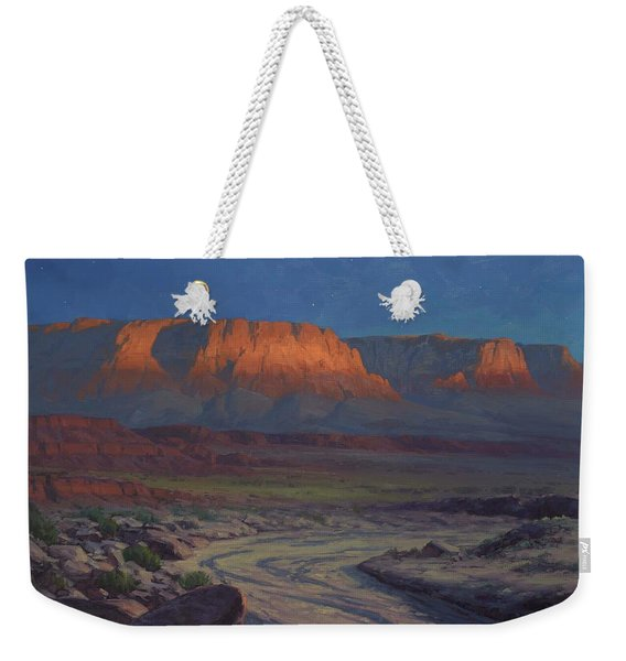 Evening Comes To Marble Canyon Weekender Tote Bag