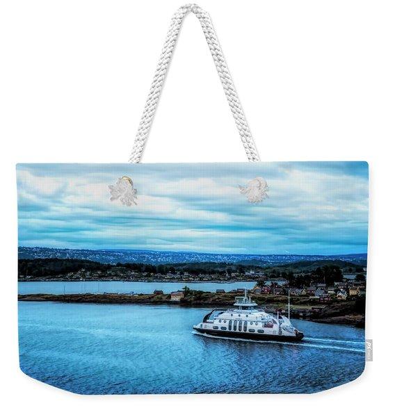 Evening Commute Weekender Tote Bag