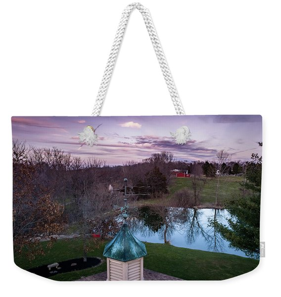 Evening Dove Weekender Tote Bag