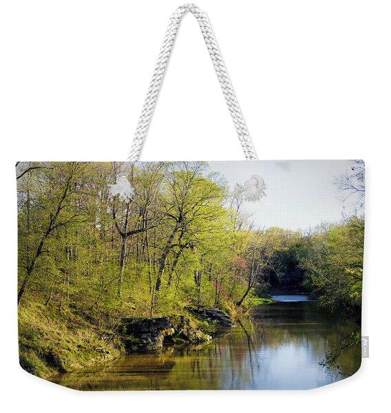 Evening Falls On Cedar Creek Weekender Tote Bag