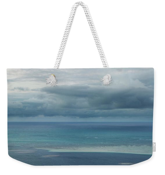 Weekender Tote Bag featuring the photograph Evening Horizon Kaneohe Bay by Charmian Vistaunet