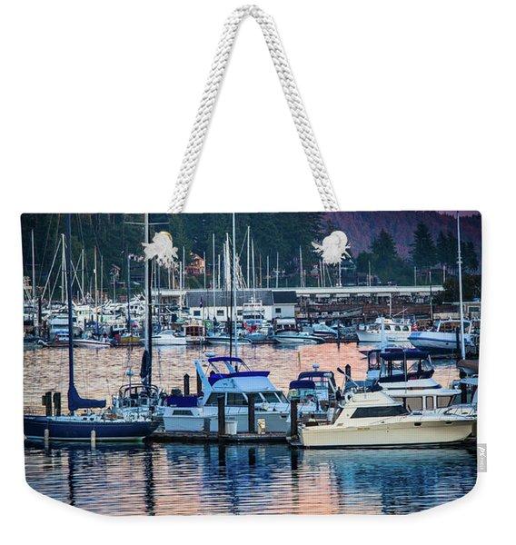 Evening In Gig Harbor Weekender Tote Bag
