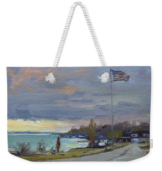 Evening In Gratwick Waterfront Park Weekender Tote Bag