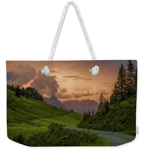 Evening In The Alps Weekender Tote Bag