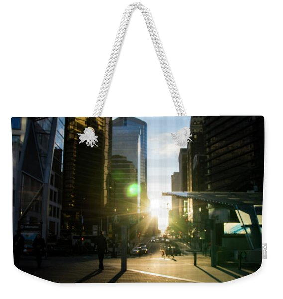 Evening In The City Weekender Tote Bag