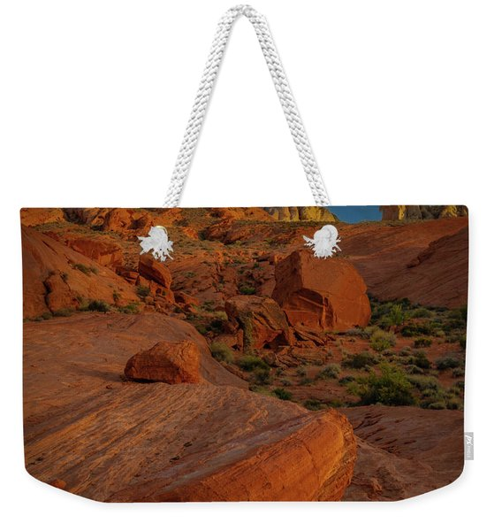 Evening In The Valley Of Fire Weekender Tote Bag