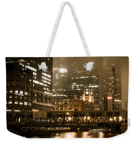 Evening In The Windy City Weekender Tote Bag