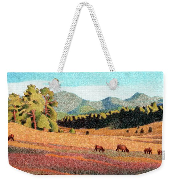 Evening Light Evergreen Weekender Tote Bag