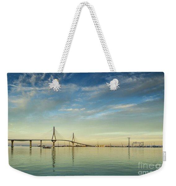 Evening Lights On The Bay Cadiz Spain Weekender Tote Bag