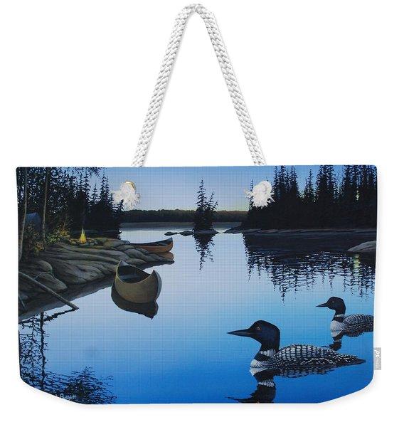 Evening Loons Weekender Tote Bag