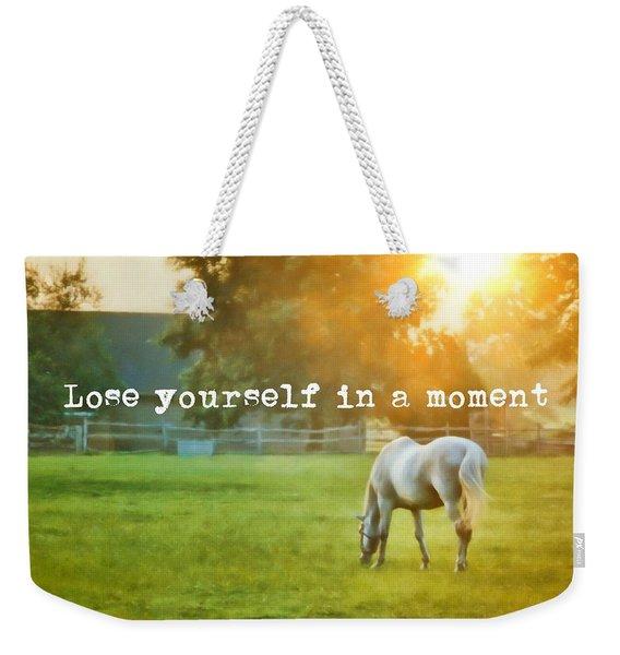 Evening Mist Quote Weekender Tote Bag