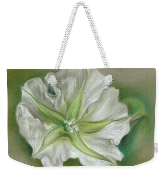 Evening Moonflower Weekender Tote Bag
