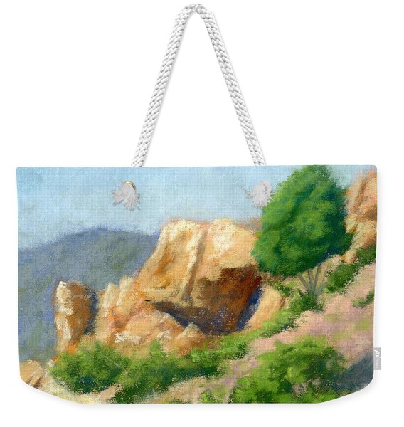 Evening On The Bench Plein Air Weekender Tote Bag