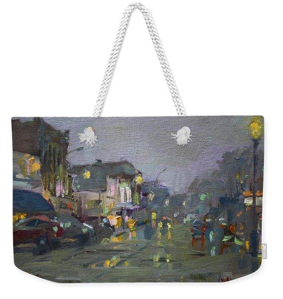 Evening Rain At Webster St Weekender Tote Bag