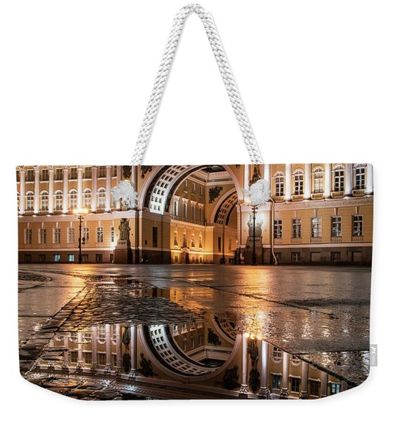 Weekender Tote Bag featuring the photograph Evening Reflections by Jaroslaw Blaminsky