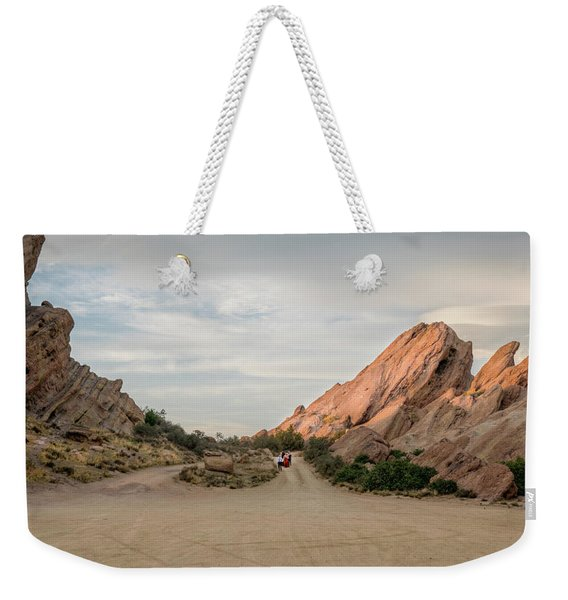 Weekender Tote Bag featuring the photograph Evening Rocks By Mike-hope by Michael Hope
