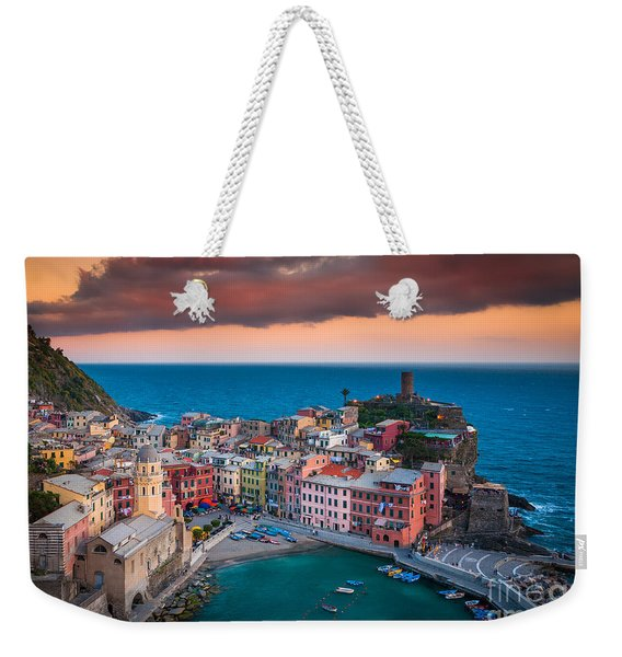 Evening Rolls Into Vernazza Weekender Tote Bag