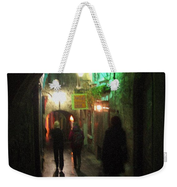 Evening Shoppers Weekender Tote Bag