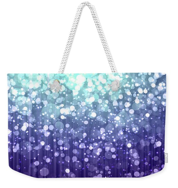 Evening Sparkle Abstract Sparkle Art Weekender Tote Bag