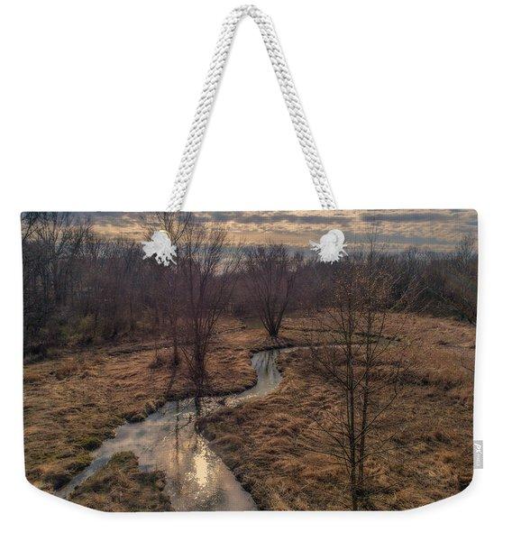 Evening Sun On The Creek Weekender Tote Bag
