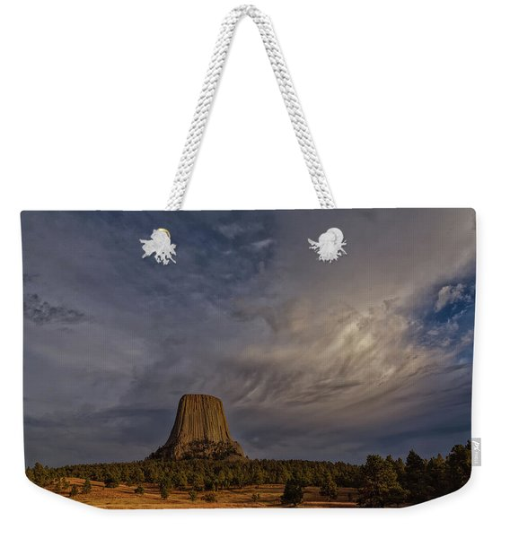 Evening Time At Devils Tower Weekender Tote Bag