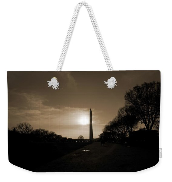 Evening Washington Monument Silhouette Weekender Tote Bag