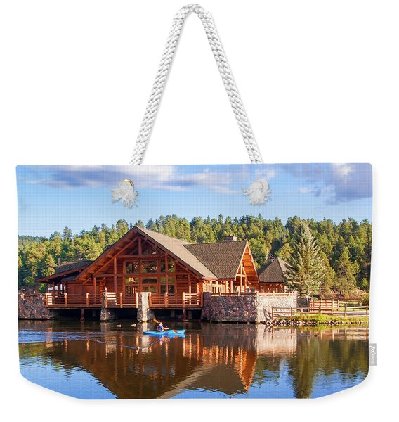 Evergreen Boathouse Weekender Tote Bag
