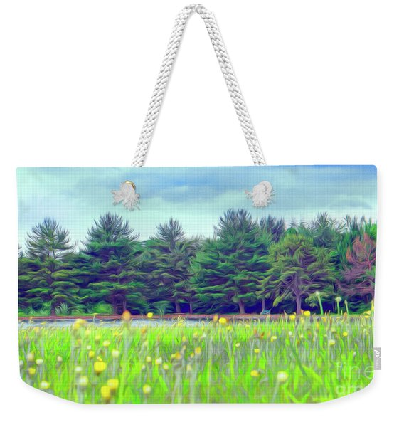 Evergreen Lake - Impressionism Weekender Tote Bag