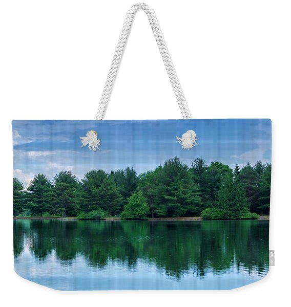 Evergreen Lake Reflections Weekender Tote Bag