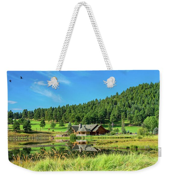 Evergreen Lake Weekender Tote Bag