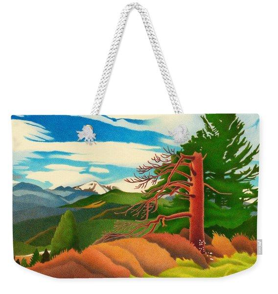 Evergreen Overlook Weekender Tote Bag