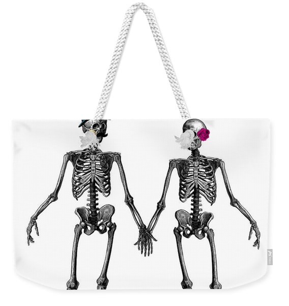 Everlasting Love Couple Skeleton Couple Weekender Tote Bag