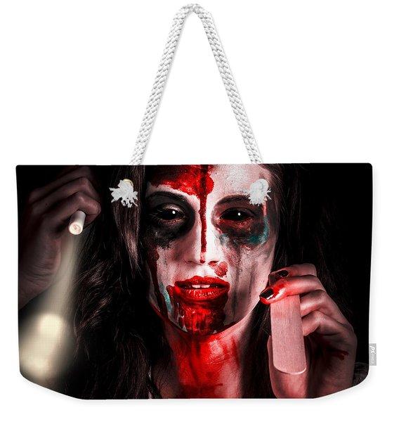 Evil Dead Dentist Performing Oral Examination Weekender Tote Bag
