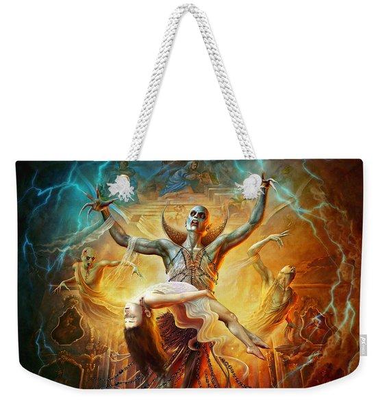 Evil God Weekender Tote Bag