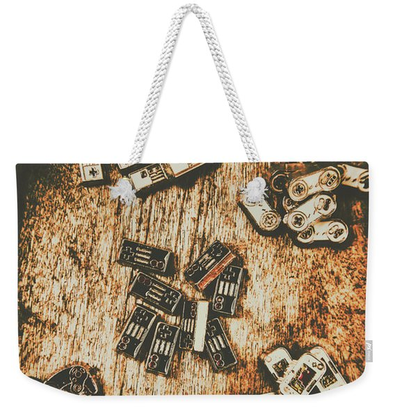 Evolution In Early Gaming Weekender Tote Bag
