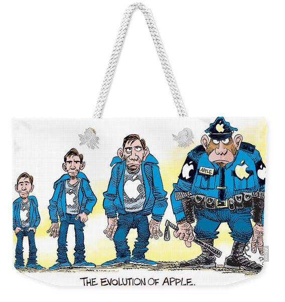Evolution Of Apple Weekender Tote Bag