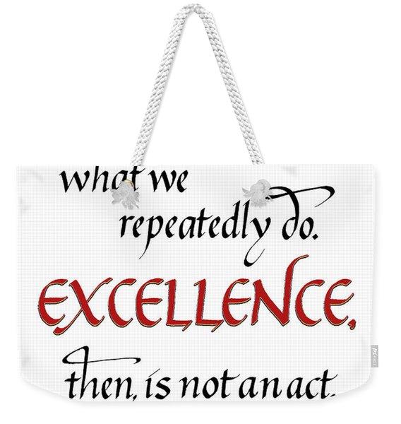 Excellence Weekender Tote Bag