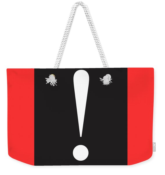 Exclamation Symbol Minimalist Poster Weekender Tote Bag